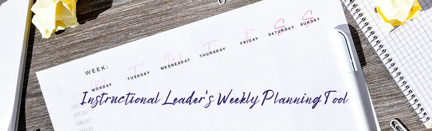 """Featured image for """"Instructional Leaders Weekly Scheduler"""""""